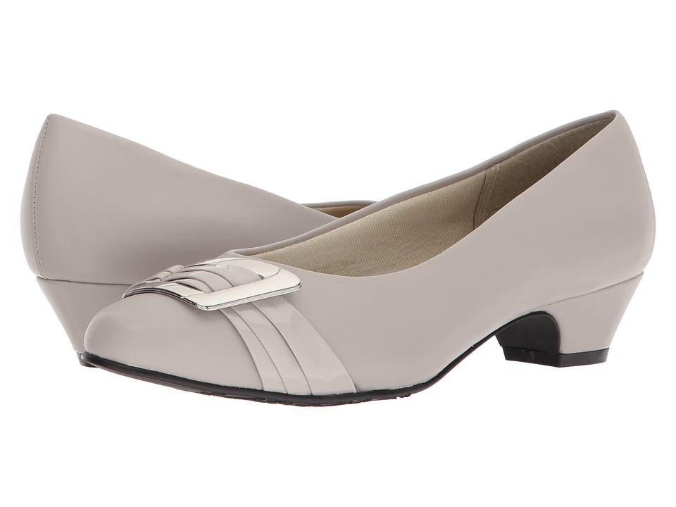 Soft Style Pleats Be With You (Silver Cloud Kid) 1-2 inch heel Shoes