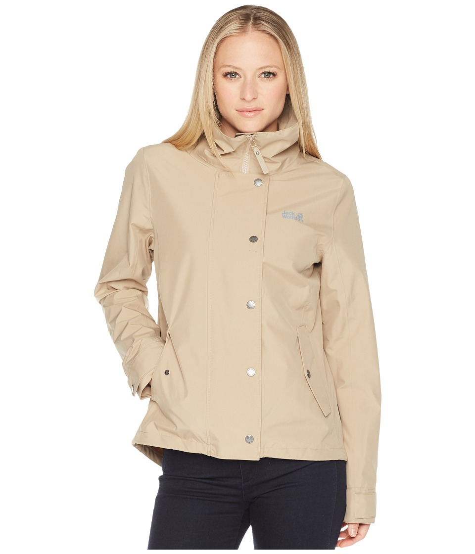 Jack Wolfskin - Newport Jacket (Sand Dune) Womens Coat