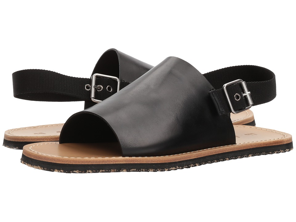 MARNI - Ankle Strap Sandal (Black/Black) Mens Sandals