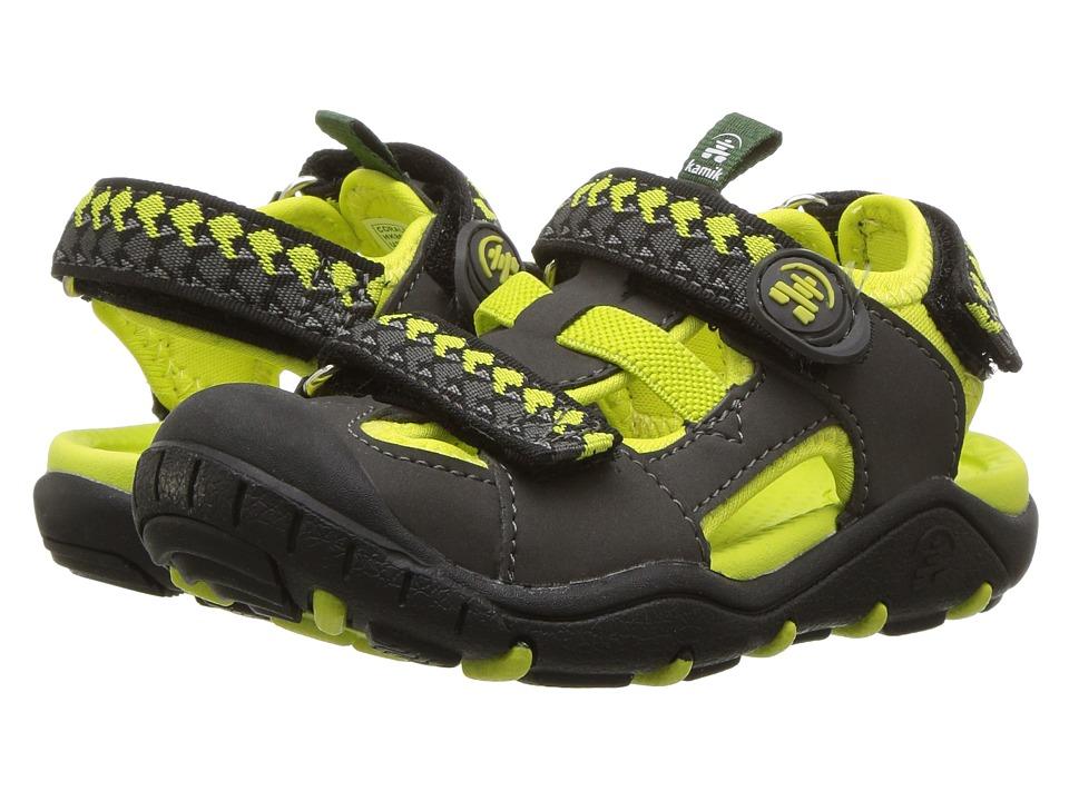 Kamik Kids - Coralreef (Toddler/Little Kid/Big Kid) (Charcoal) Boys Shoes
