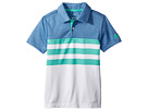 adidas Golf Kids 3-Stripe Fashion Polo (Big Kids)
