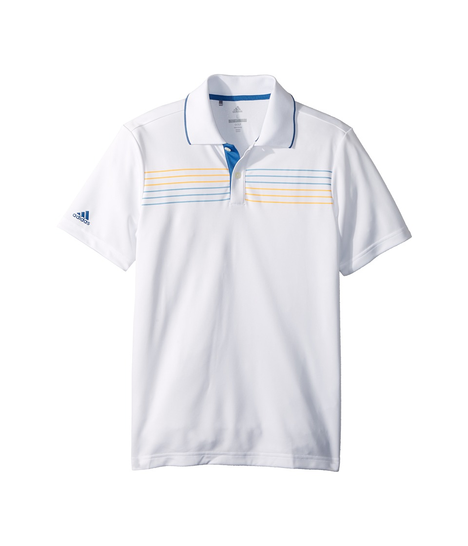 adidas Golf Kids - Merch Polo (Big Kids) (White) Boys Short Sleeve Pullover