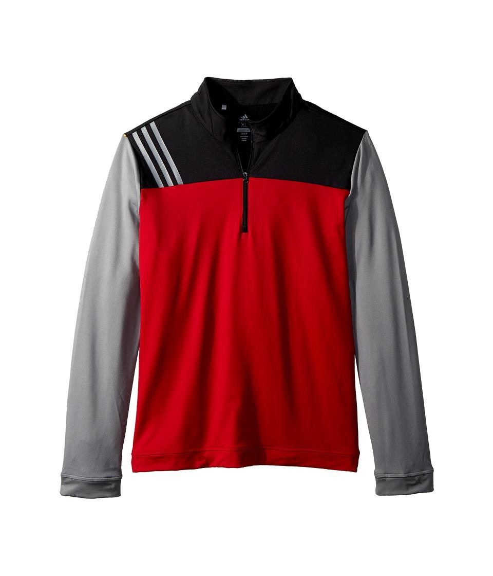 Image of adidas Golf Kids - 3-Stripe Layering Jacket (Big Kids) (Power Red) Boy's Coat