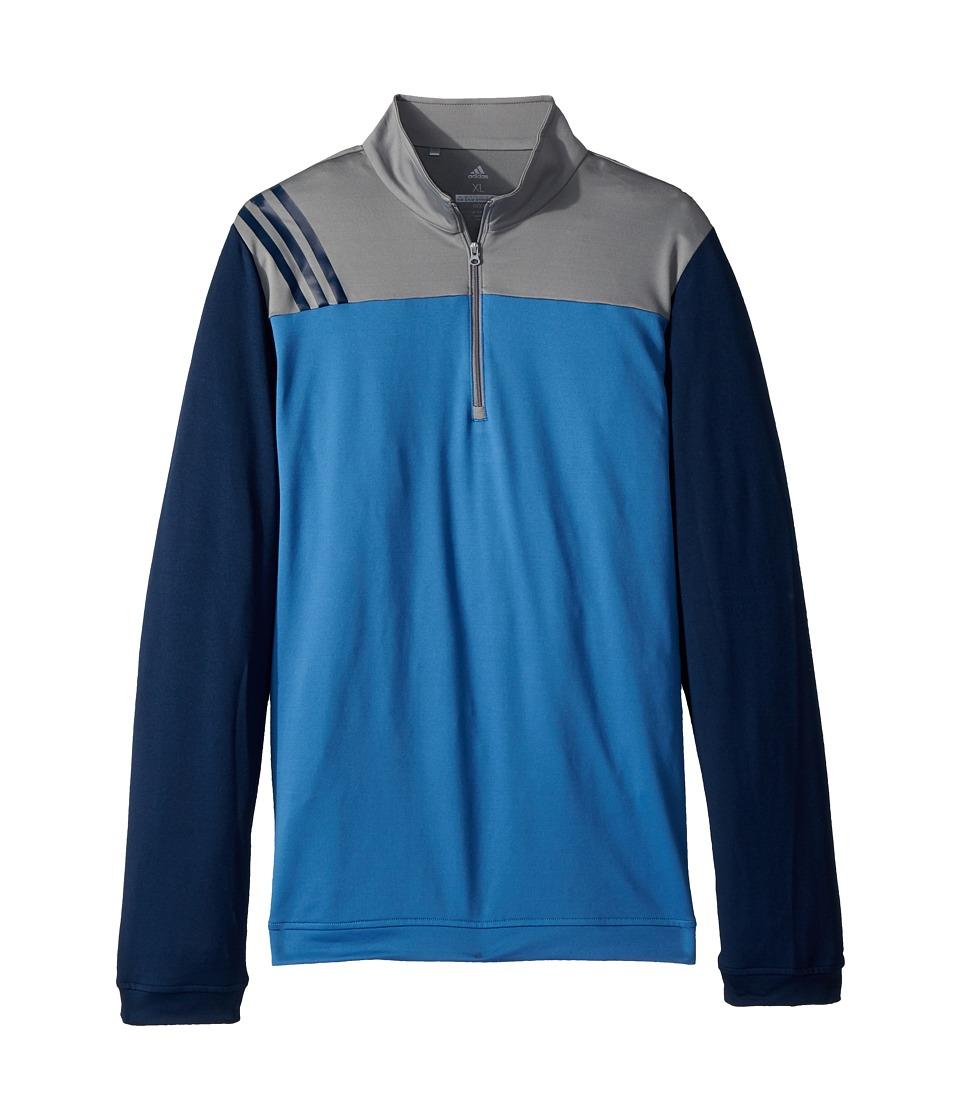 Image of adidas Golf Kids - 3-Stripe Layering Jacket (Big Kids) (Trace Royal) Boy's Coat