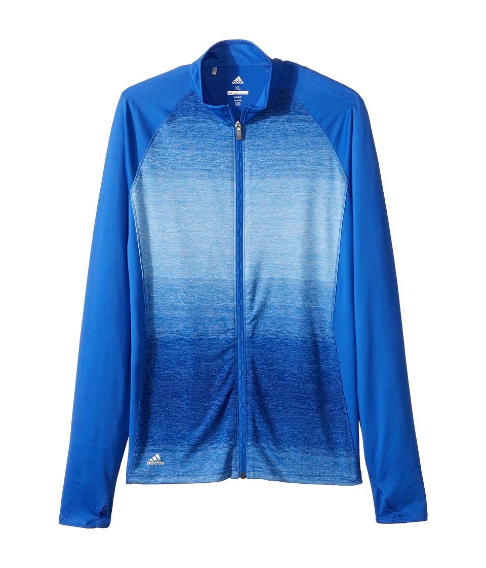 adidas Golf Kids Rangewear Full Zip Jacket (Big Kids) (Hi-Res Blue) Girl