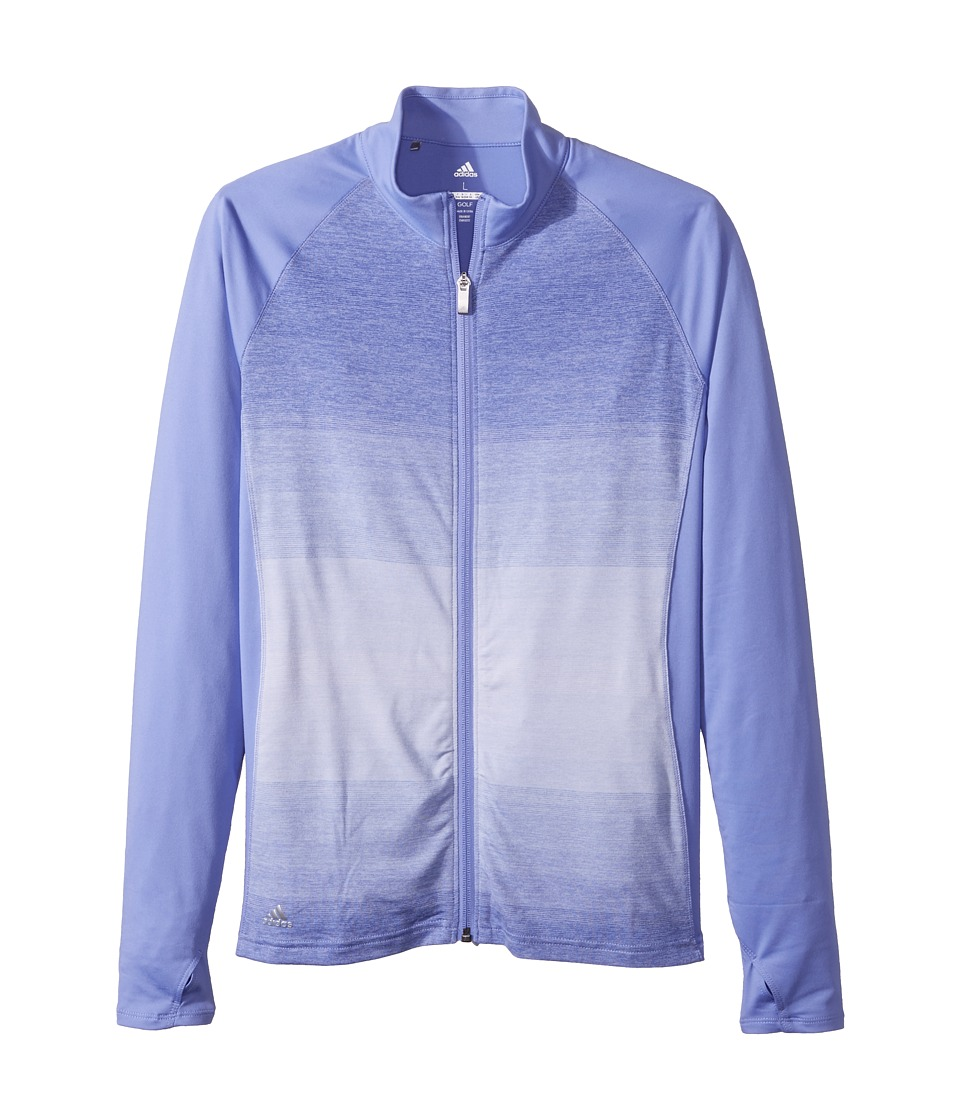 adidas Golf Kids Rangewear Full Zip Jacket (Big Kids) (Chalk Purple) Girl