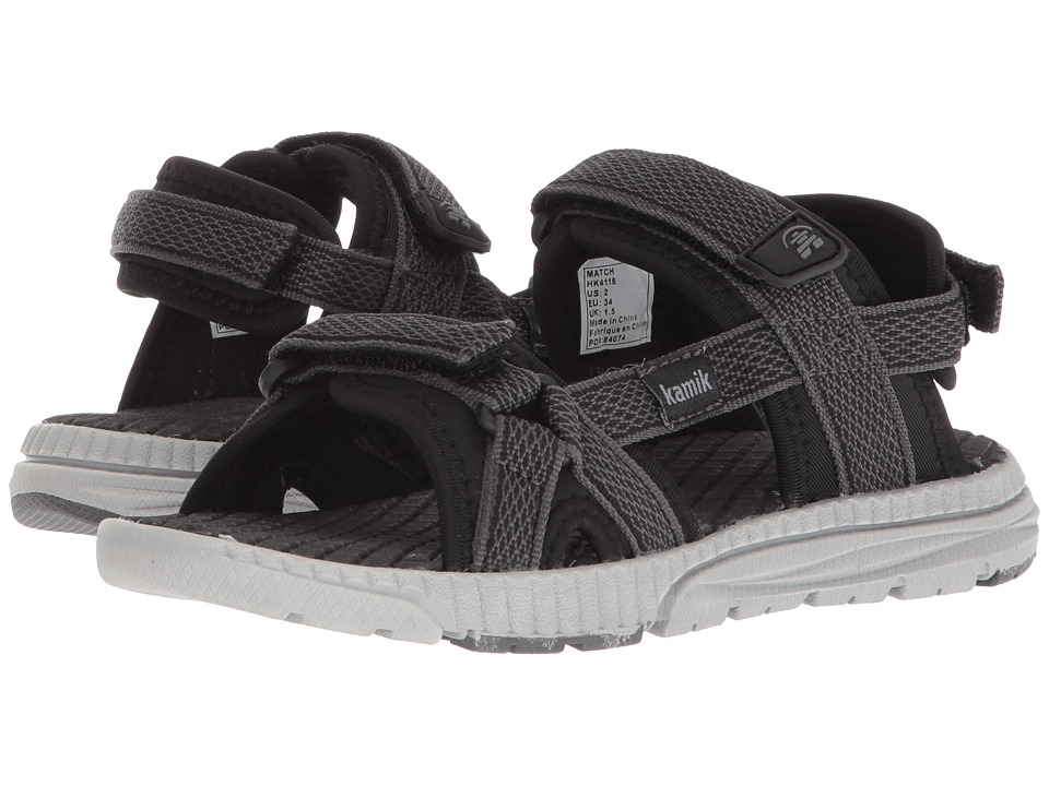Kamik Kids - Match (Toddler/Little Kid/Big Kid) (Black) Kids Shoes
