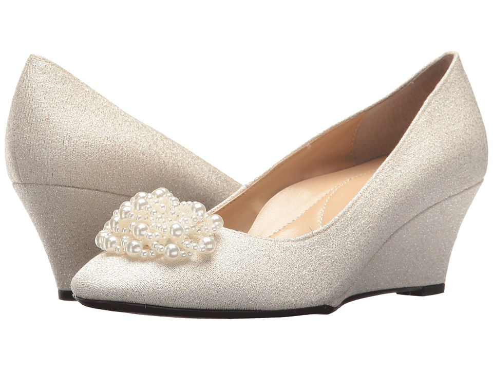 1940s Style Wedding Dresses | Classic Wedding Dresses J. Renee - Eloisa Ivory High Heels $109.95 AT vintagedancer.com