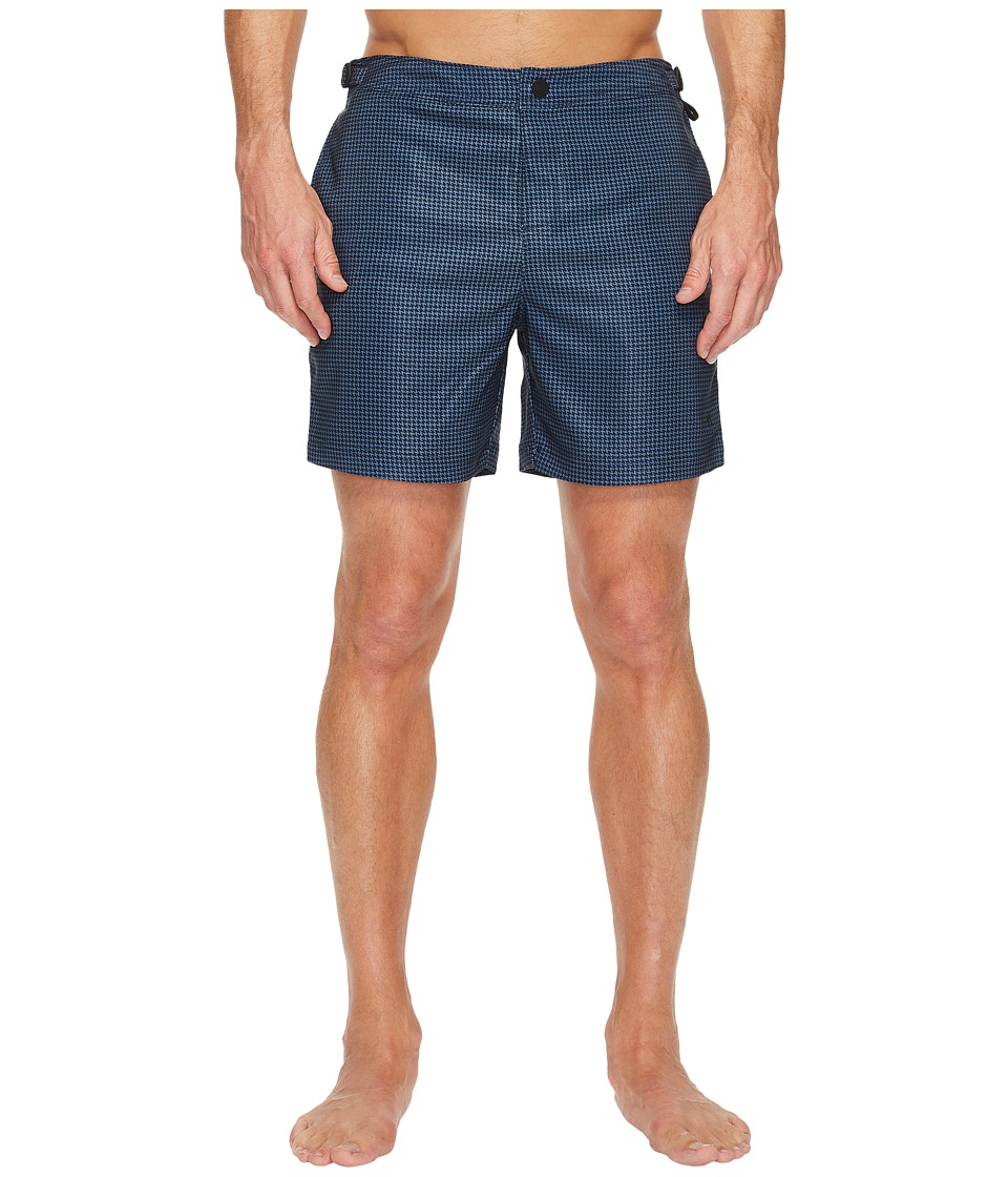 Original Penguin Houndstooth Fixed Stretch Volley (Dark Sapphire) Men