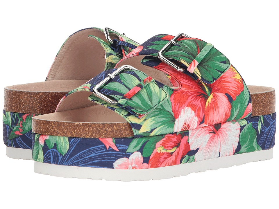 Shellys London - Hawaii (Blue Floral) Womens Shoes