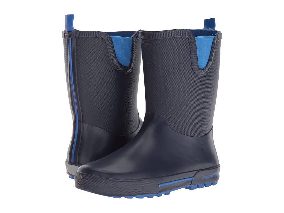 Kamik Kids - Rainplay (Little Kid) (Navy/Blue) Boys Shoes