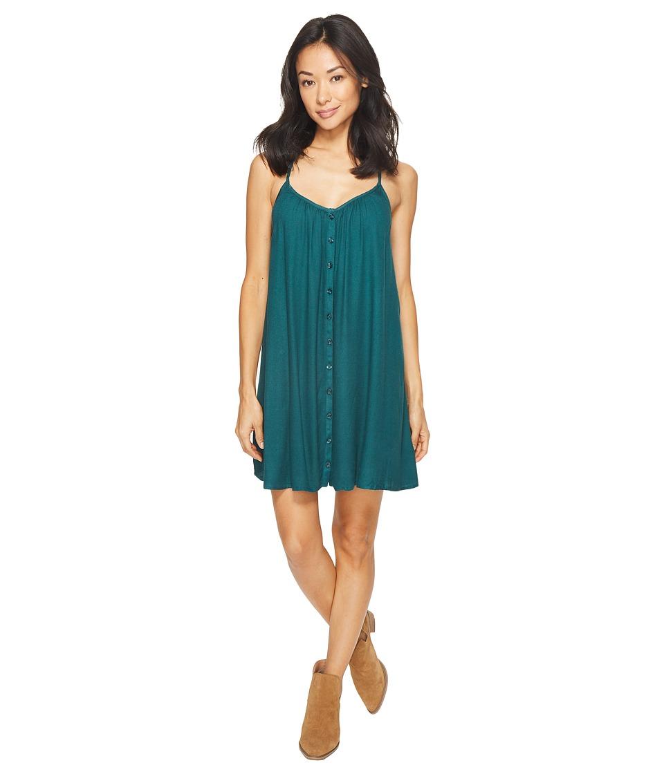 Volcom Mix A Lot Cami Dress (Midnight Green) Women