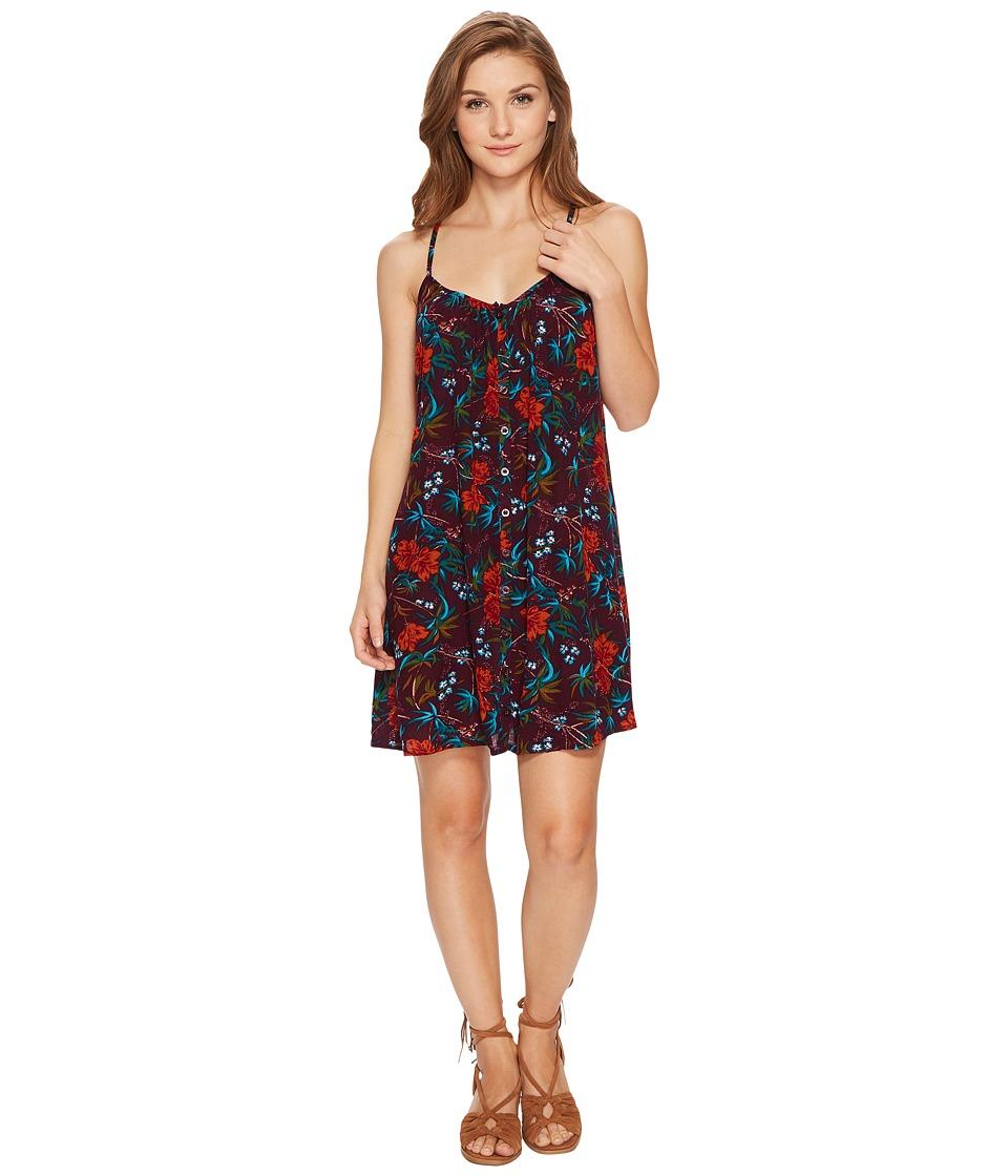 Volcom Mix A Lot Cami Dress (Plum) Women