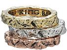 King Baby Studio Temple Ruin Multicolored Tri Stack Ring