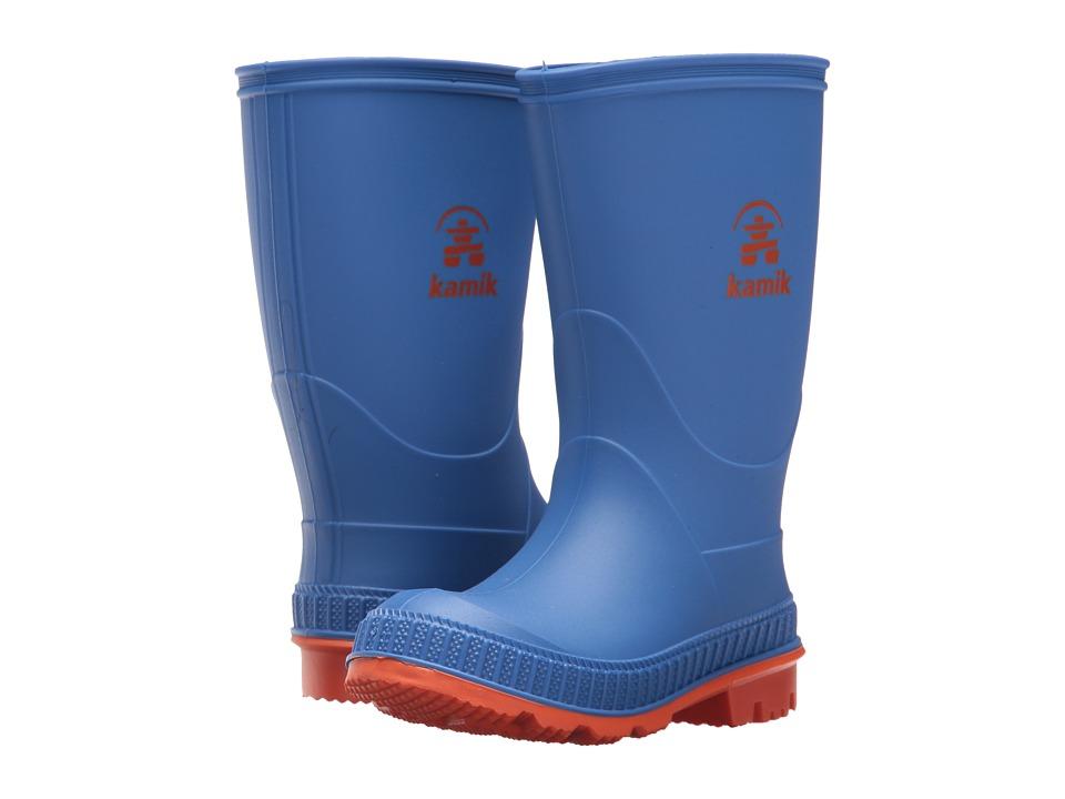 Kamik Kids - Stomp (Toddler/Little Kid/Big Kid) (Blue/Orange) Boys Shoes