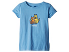 Life is Good Kids Besties Rocket and Cat Crusher Tee (Little Kids/Big Kids)