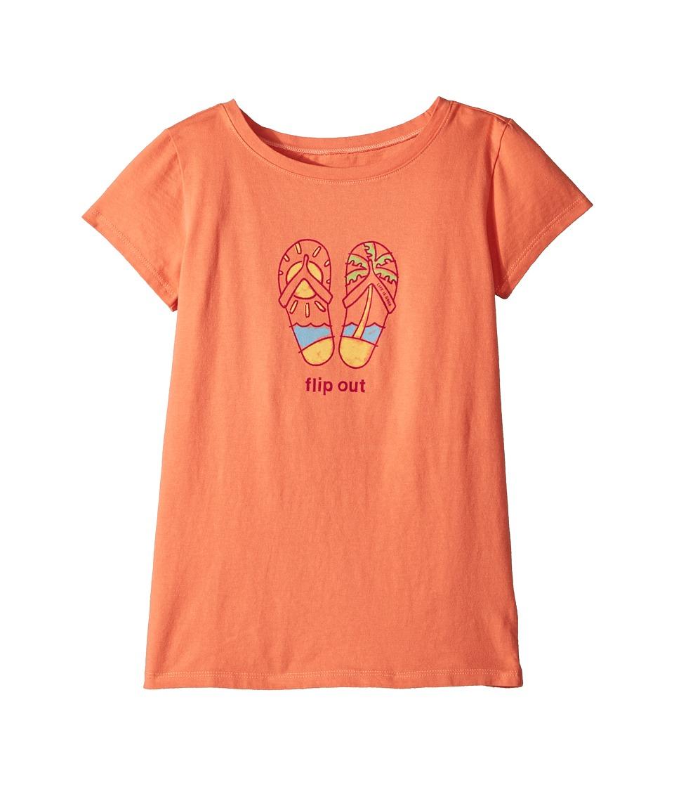 Life is Good Kids - Flip Out Crusher Tee (Little Kids/Big Kids) (Fresh Coral) Girls T Shirt