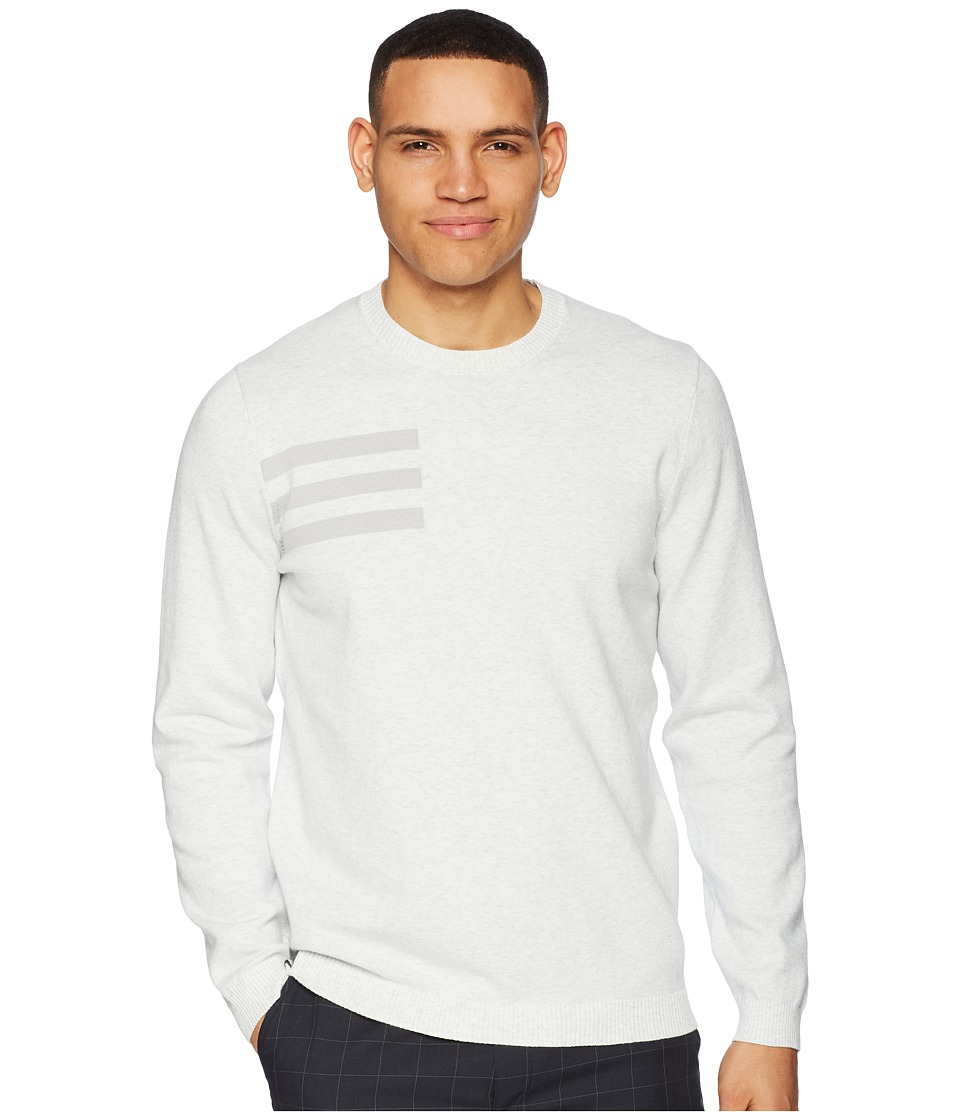 adidas Golf 3-Stripes Crew Neck Sweater (Grey One Heather) Men