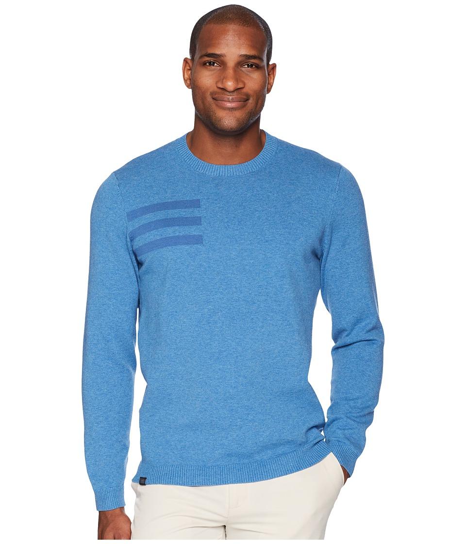 adidas Golf 3-Stripes Crew Neck Sweater (Trace Royal Heather) Men
