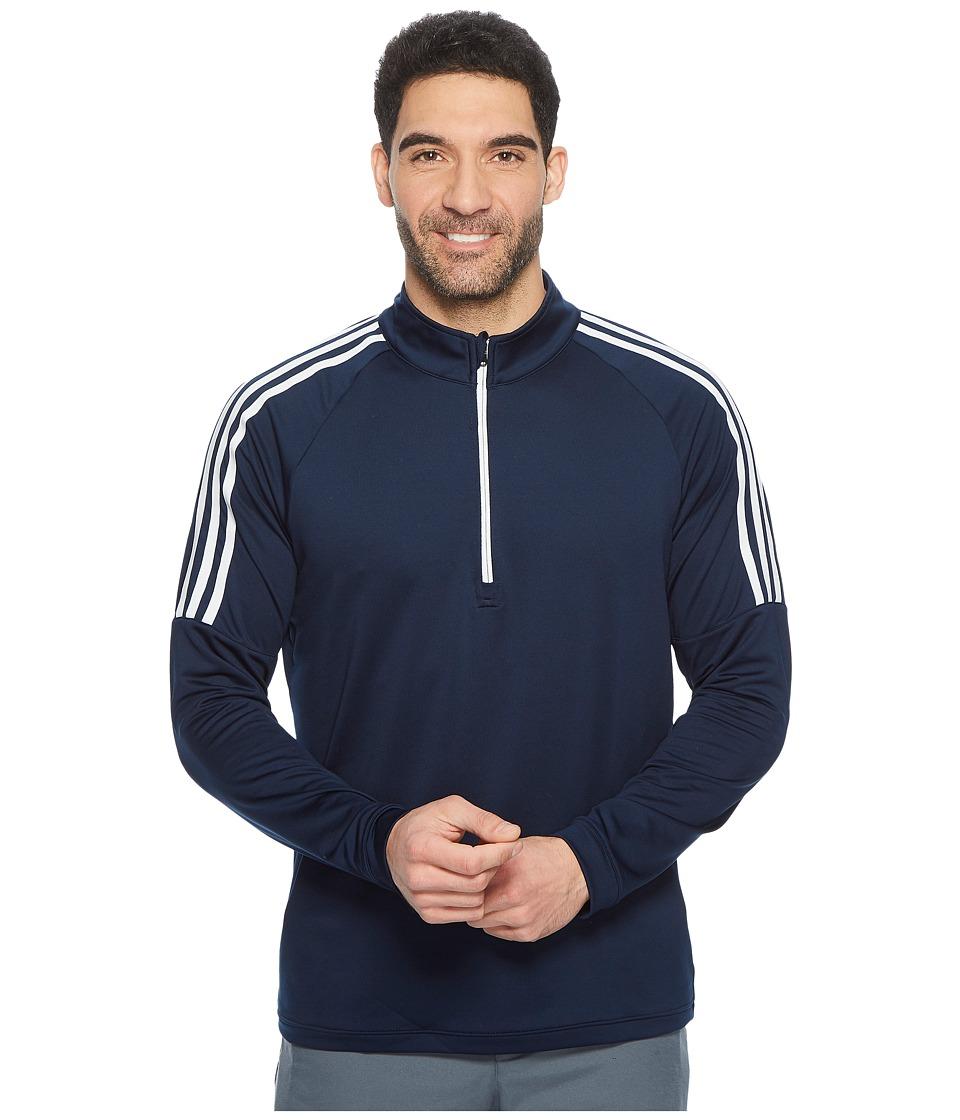 adidas Golf Classic 3-Stripes 1/4 Zip Pullover (Collegiate Navy) Men