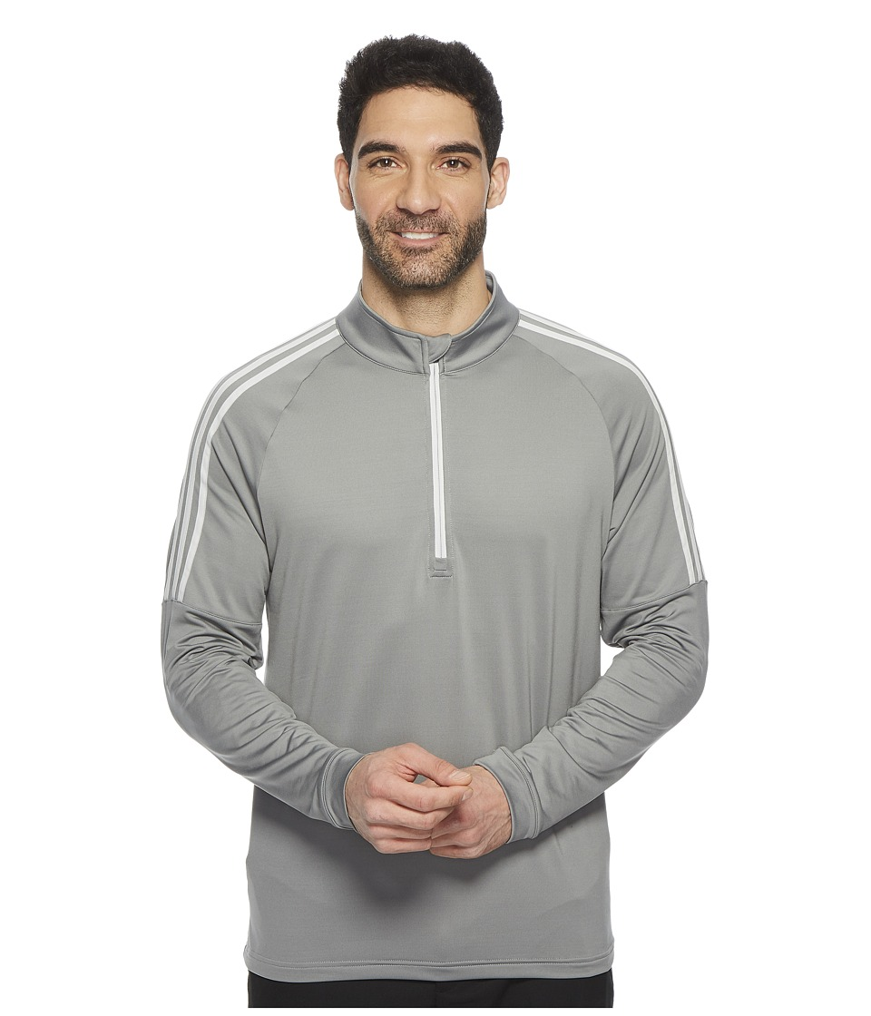 adidas Golf Classic 3-Stripes 1/4 Zip Pullover (Grey Three) Men
