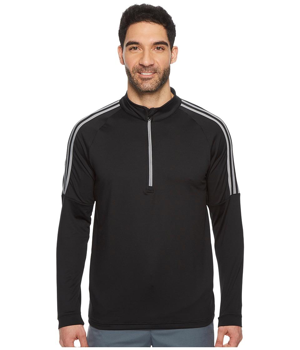 adidas Golf Classic 3-Stripes 1/4 Zip Pullover (Black 1) Men