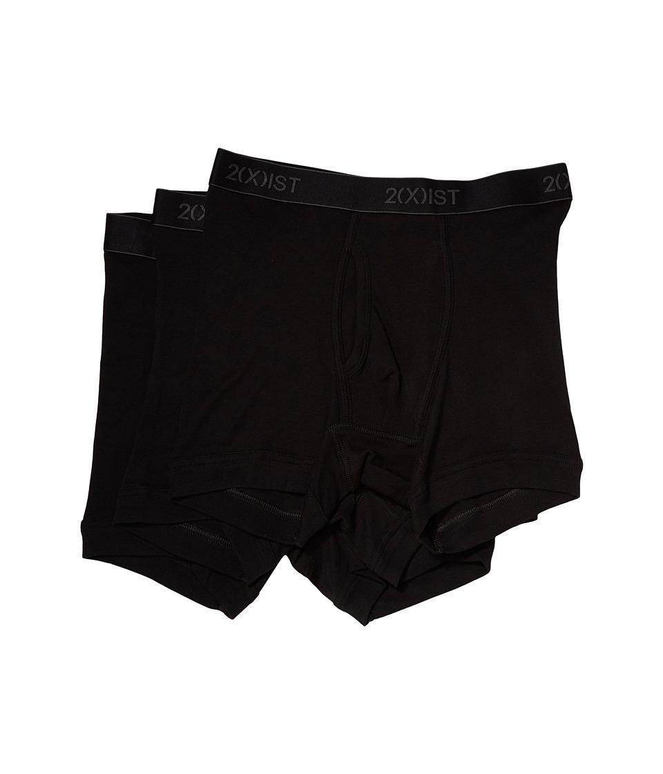 Image of 2(X)IST - 3-Pack ESSENTIAL Boxer Briefs (Black New Logo) Men's Underwear