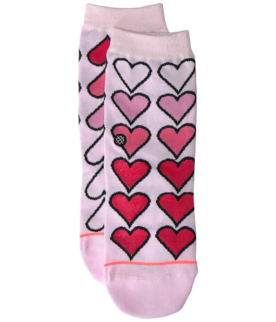 Stance XO Everyday (Toddler/Little Kid/Big Kid) (Pink) Women's Crew Cut Socks Shoes