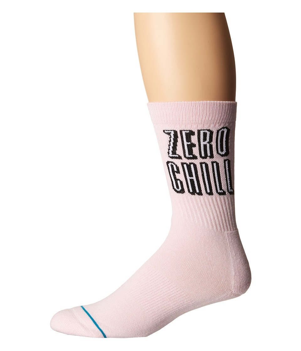 Stance - Zero Chill (Pink) Mens Crew Cut Socks Shoes