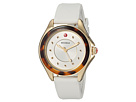 Michele The Cape Gold-Plated Stainless Steel White Silicone Strap