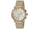 Michele Sidney Diamond Bezel Gold Plated Stainless Steel Watch