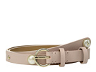 Kate Spade New York 19mm Leather Belt w/ Pearl Studs