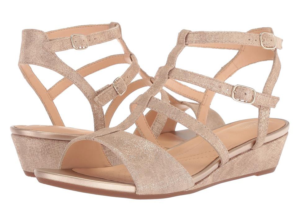 Clarks - Parram Spice (Gold Suede) Women's Sandals