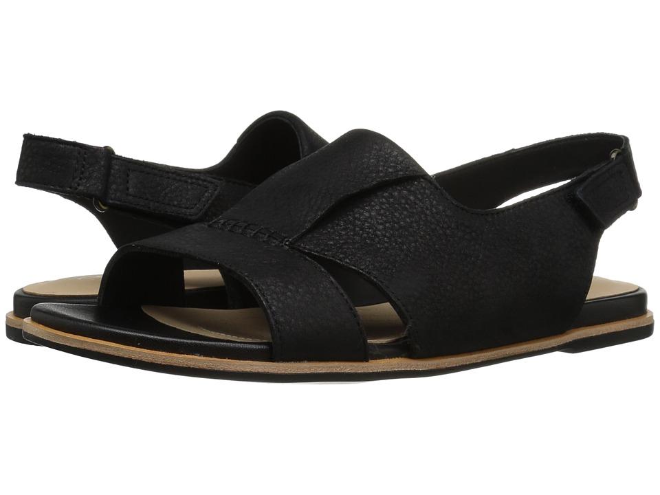 Clarks - Sultana Rayne (Black Leather) Womens Sandals