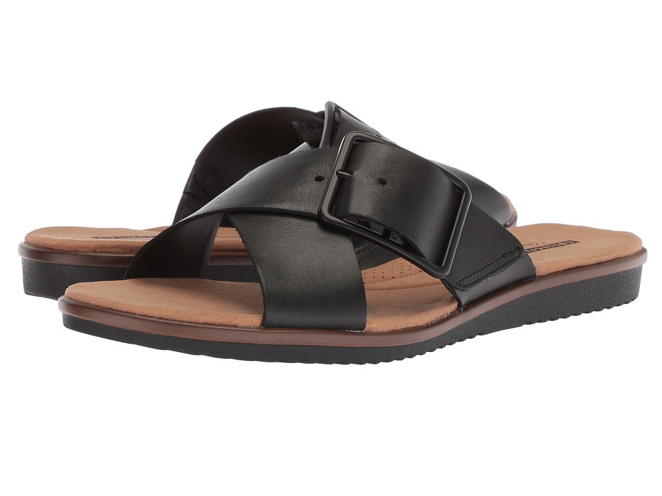 Clarks Kele Heather (Black Leather) Sandals