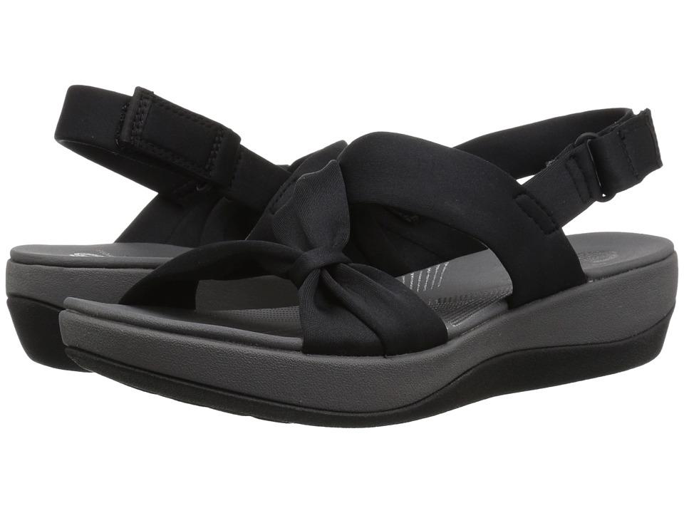 Clarks - Arla Primrose (Black Fabric/Black) Women's Sandals