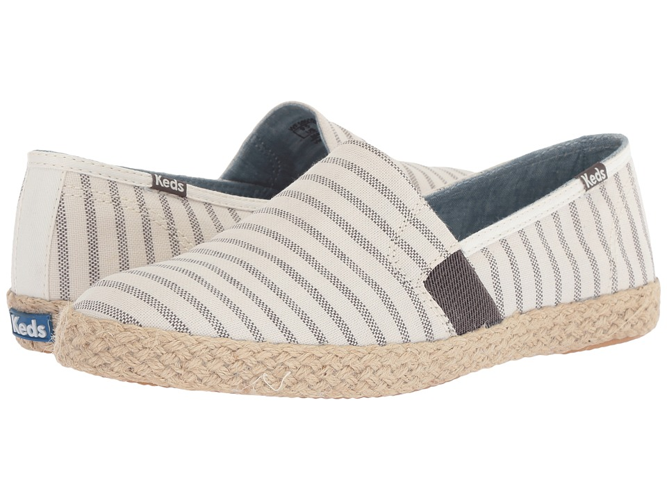 Keds - Chillax A-Line Stripe/Jute (Cream) Womens Slip on  Shoes