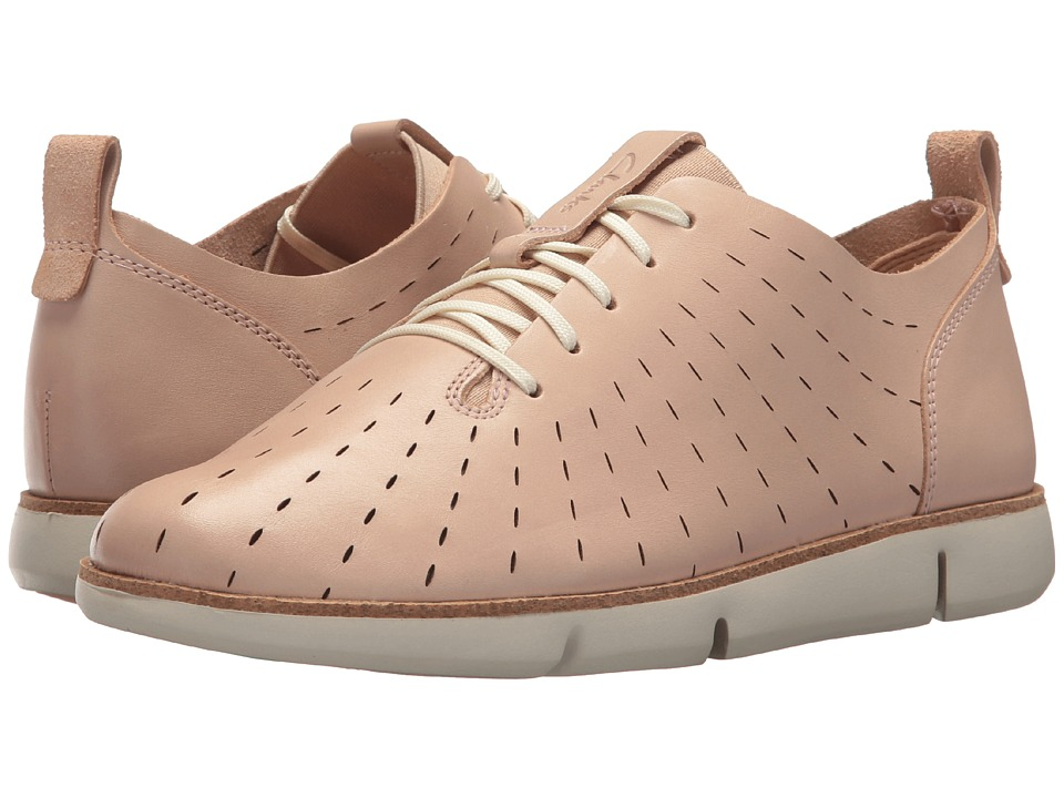 Clarks - Tri Etch (Nude Pink Leather) Womens Lace up casual Shoes