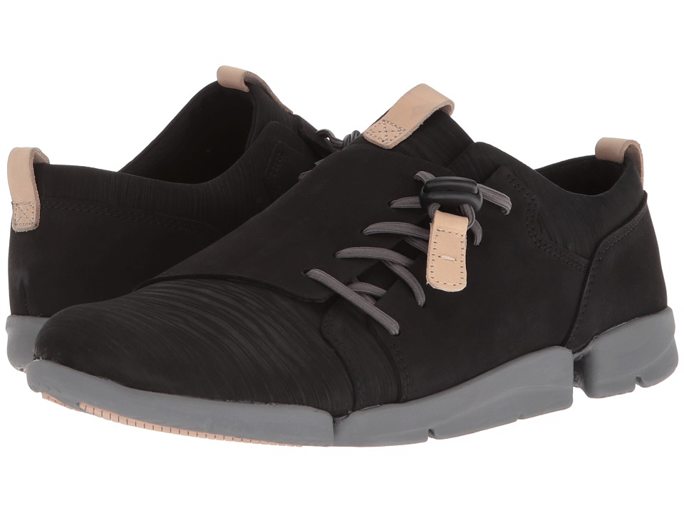 Clarks - Tri Camilla (Black Nubuck) Womens Lace up casual Shoes