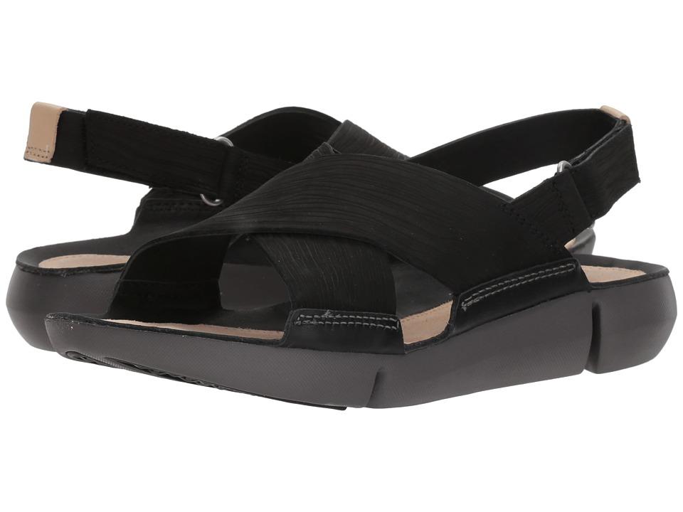 Clarks - Tri Chloe (Black Nubuck) Women's Sandals