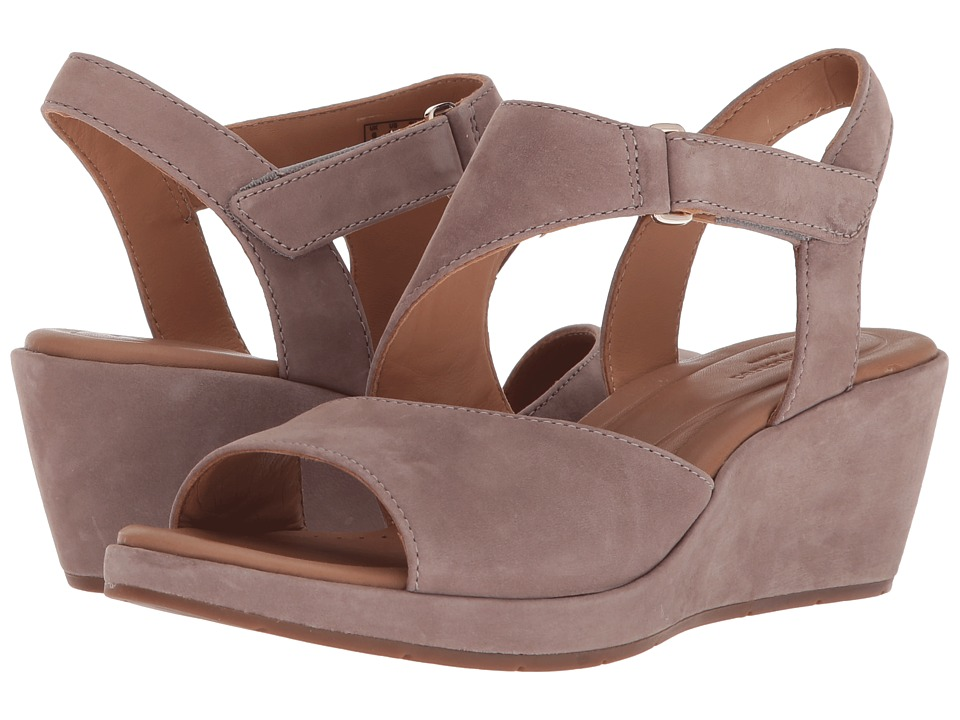 Clarks Un Plaza Sling (Warm Grey Nubuck) Wedges