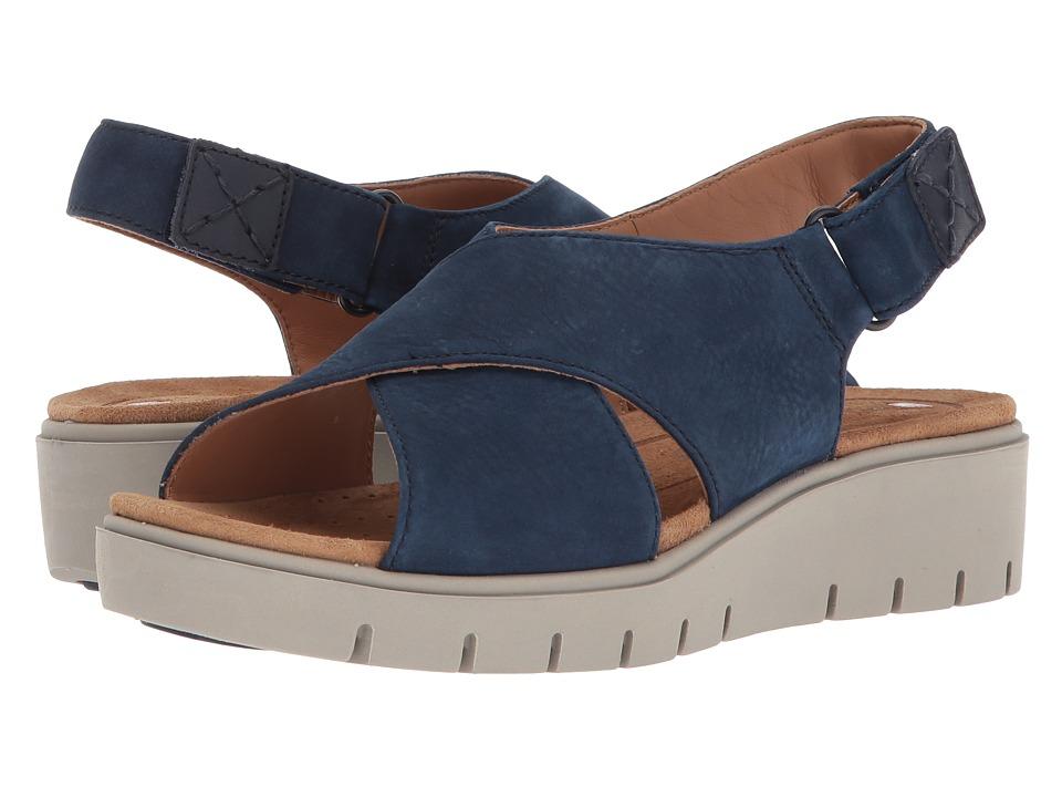 Clarks - Un Karely Hail (Navy Nubuck) Womens Sandals