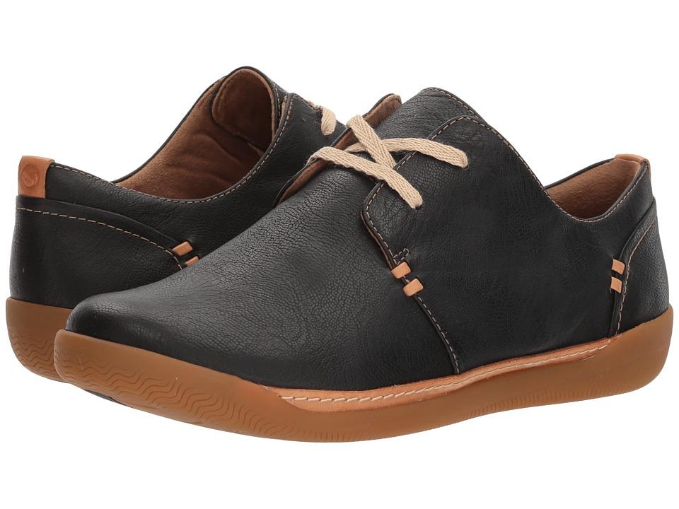 Clarks - Un Haven Lace (Black Leather) Womens Lace up casual Shoes