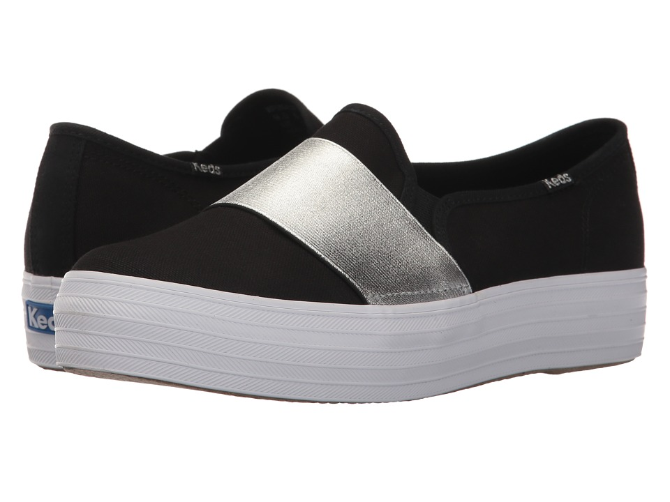 Keds Triple Bandeau Canvas (Black/Silver) Slip-On Shoes