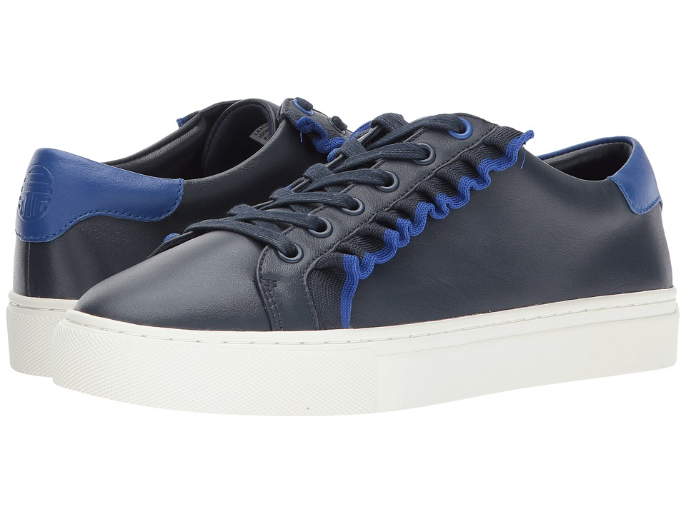 Tory Sport Ruffle Sneaker (Bright Navy/Blue) Women's Shoes