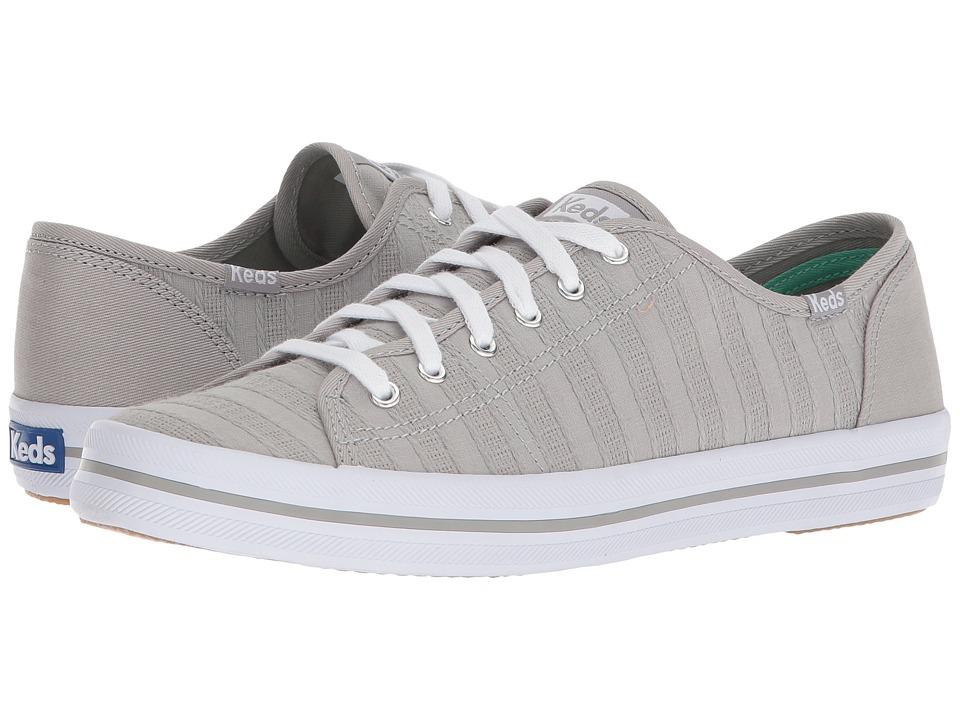 Keds - Kickstart Eyelet Stripe (Gray) Womens Lace up casual Shoes