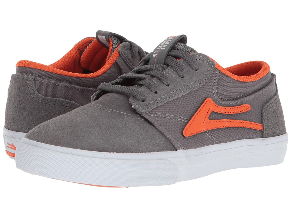 Lakai - Griffin (Little Kid/Big Kid) (Grey Rust Suede) Mens Skate Shoes