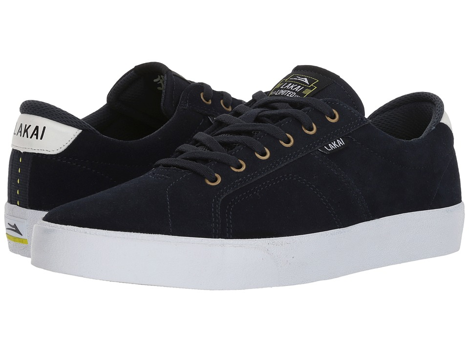 Lakai - Flaco (Navy/White Suede) Mens Skate Shoes