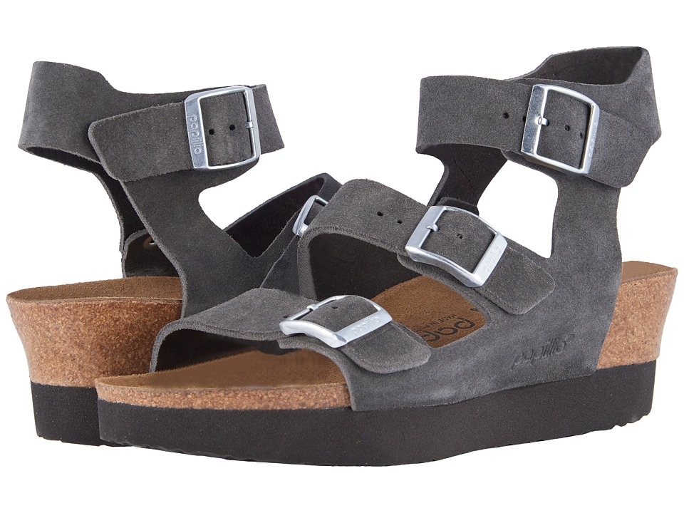 Birkenstock - Linnea (Anthracite Suede) Women's Dress Sandals
