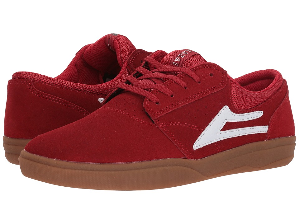 Lakai - Griffin XLK (Red/Gum Suede) Mens Skate Shoes